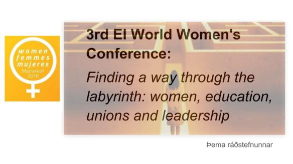 SI_3rd EI World Women's Conference Marrakesh